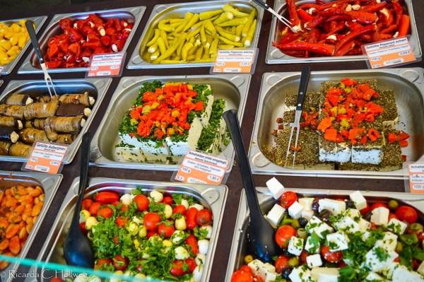 Mediterranean salads at the Viktualienmarkt