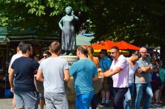 Fountain at the Viktualienmarkt