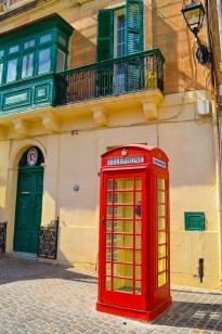 Telephone box in Valletta