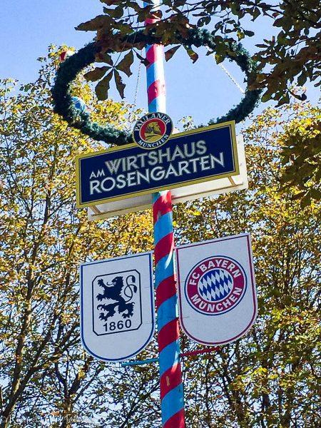 Maypole Rosengarten Beergarden Munich