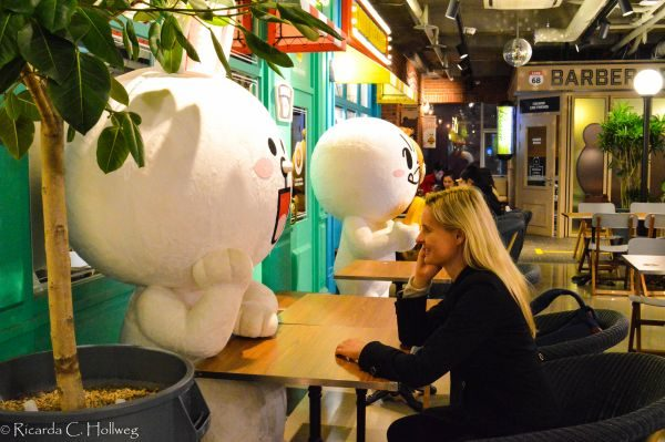 Chatting at Line Friends Store Seoul