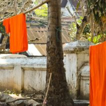 Drying monchs' robes