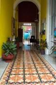 colorful floor in Mérida Mexico