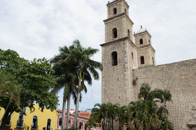 Typical square in Mérida Mexico