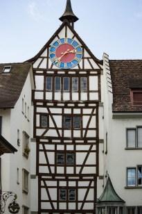 Half-timbered tower in Stein am Rhein