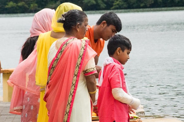 Devote Hindus at Grand Bassin