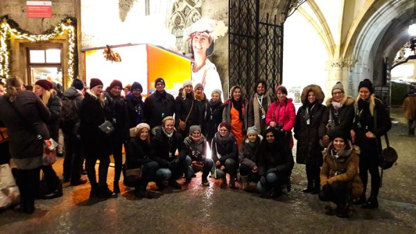 Munich Christmas Market with bloggers and instagrammers