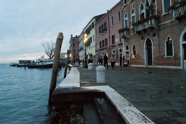 A walk in the Blue Hour in Dorsoduro in Venice