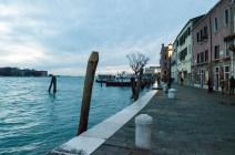 Beatiful atmosphere in in the Blue Hour in Venedig