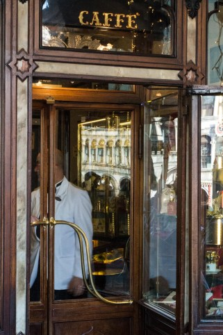 Entrance of Cafe Florian in Venice