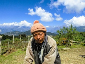 Farmer met by Community Trekking in Nepal