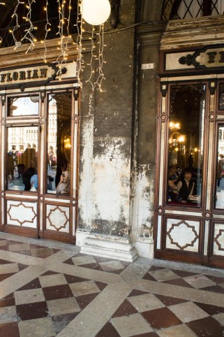 Floor in front of Cafe Florian Venice