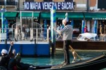 No Mafia L'Italia è sacra at Grand Canal Venice