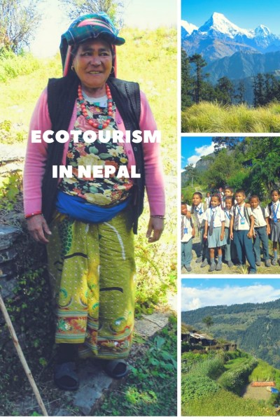 Pinterest Pin Eco Tourism in Nepal