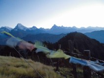 Prayer flags on Mohare Hill