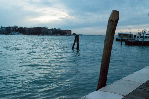 Water in Venice in the Blue Hour