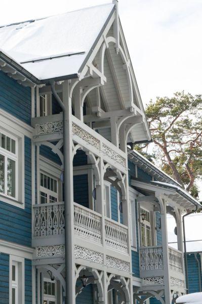 Blue wooden house Jurmala
