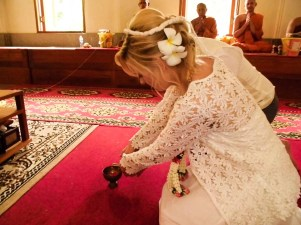 Buddhist wedding in Thailand