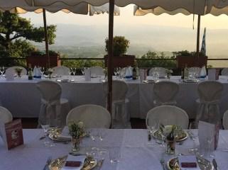 Wedding table at Agriturismo La Capitata