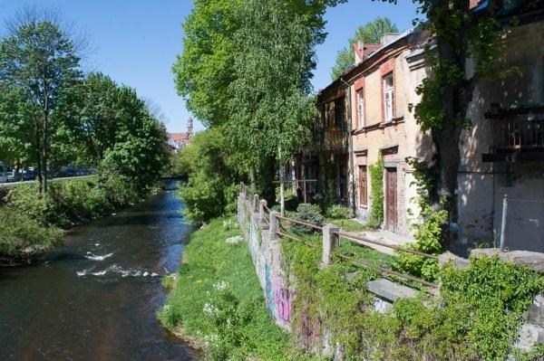 at the Vilnia River