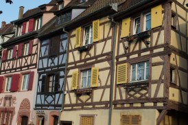 Colorful house row in Colmar