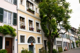 Pastel colored houses in Basel