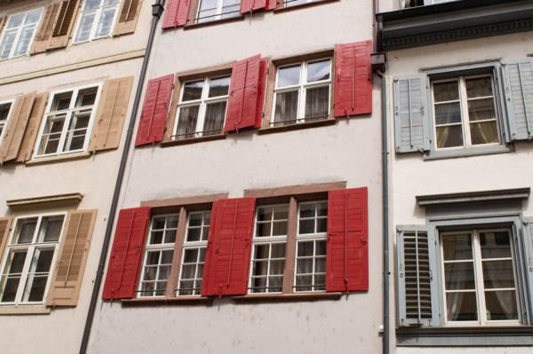 Window shutters in Basel