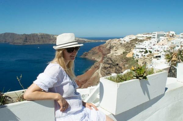 Happy on Santorini