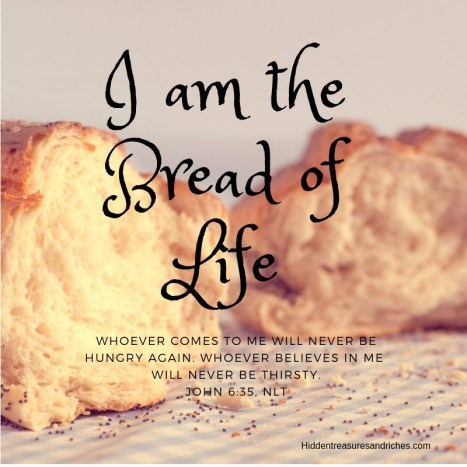 I am the Bread of Life describes the life sustaining, soul giving spiritual bread of Jesus.
