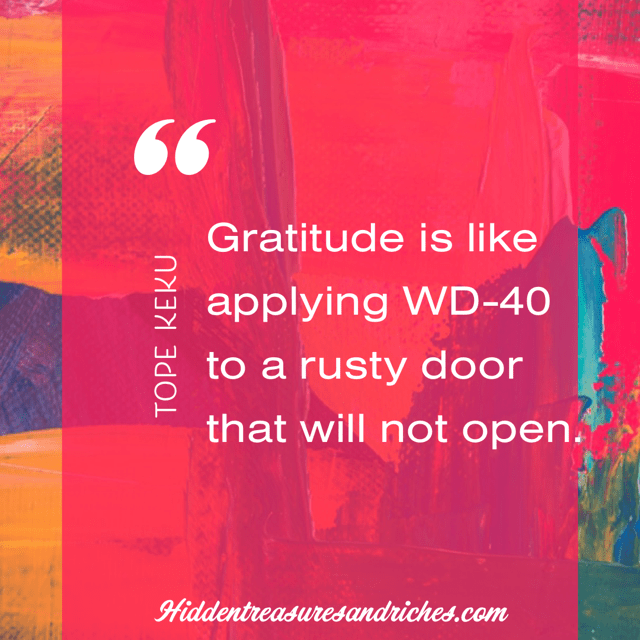 Gratitude is key to experiencing joy