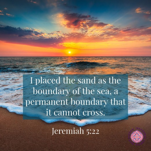 Practicing Healthy boundaries without guilt. Even God had boundaries.