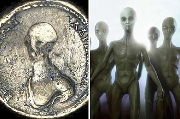 В Египет са открити древни монети с изображение на извънземен