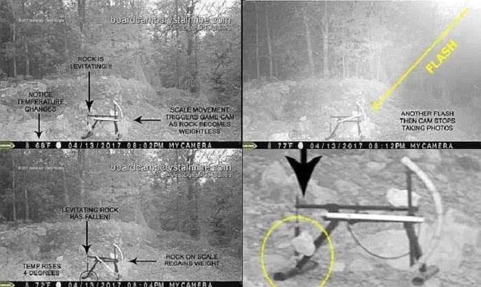 Левитиращ камък и ярка светлина в близост до мина в Арканзас (видео)