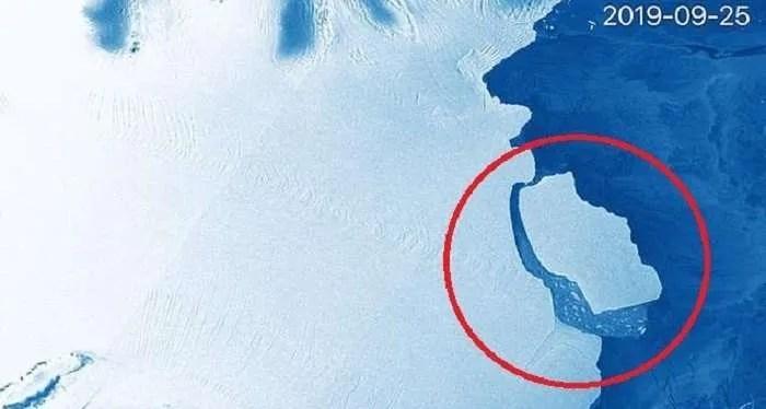 За пет дни, огромен айсберг се откъсна от Антарктида