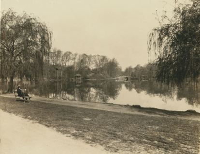 Kissena LAke from the southern side, NYPL Collection
