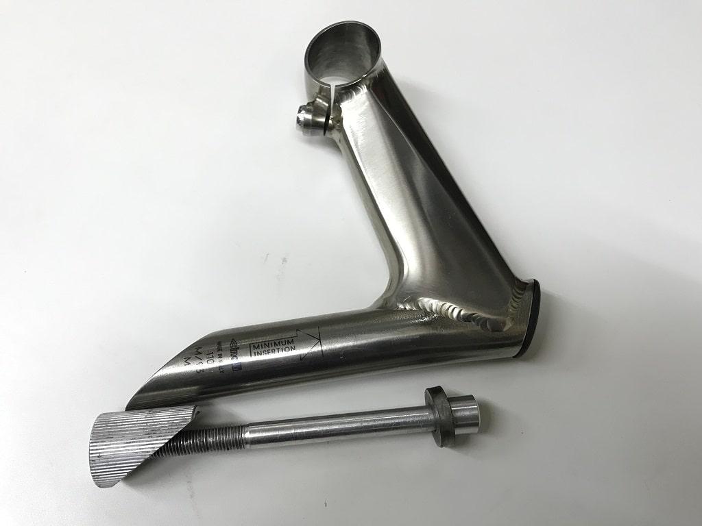 自転車のステム(チタン製)修理