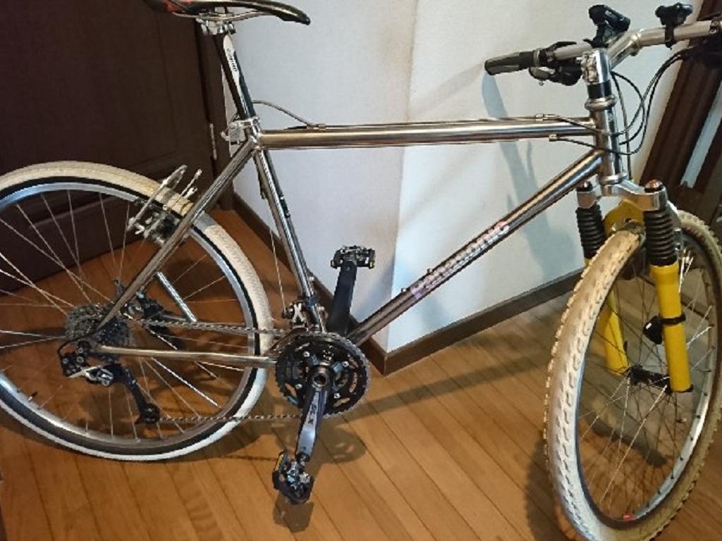 自転車チタンフレーム修理のその後