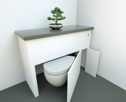 hidealoo discretionary unit no basin with door half open v2