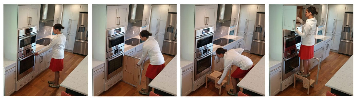 Kitchen Cabinet Accessory Step Stool
