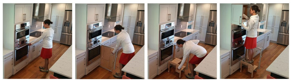 Kitchen Pull Out Step Stool