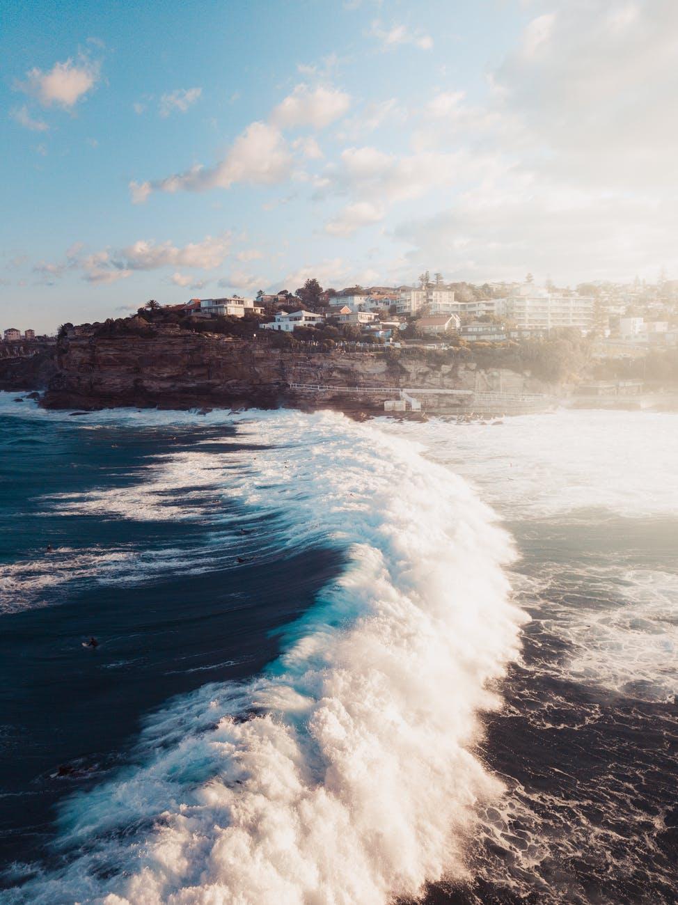 photo of waves on ocean