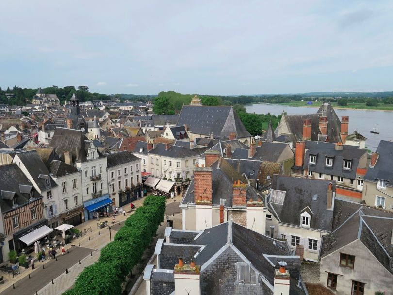 The town of Amboise as seen from the castle