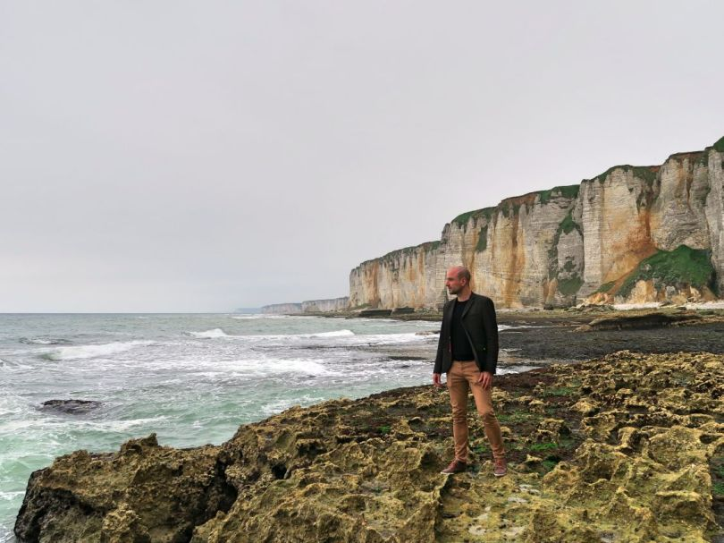 Me at the cliffs of Étretat