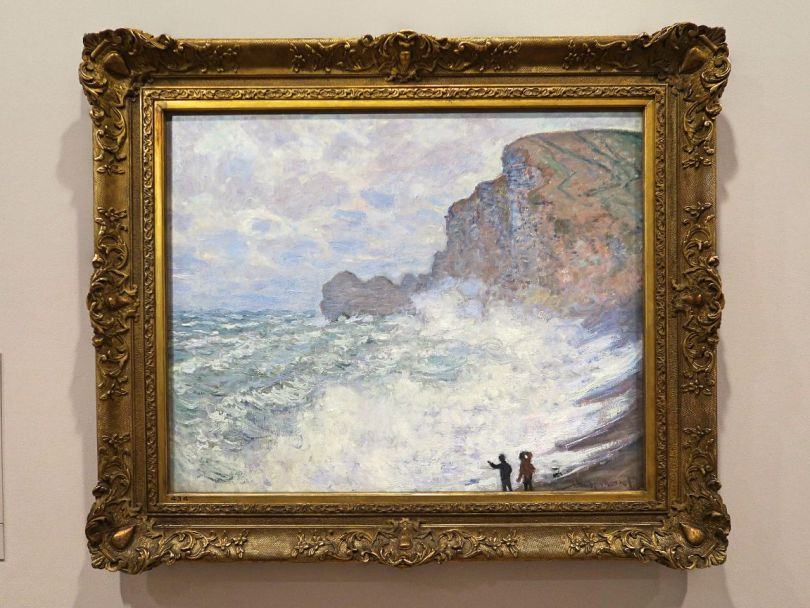 """Gros Temps a Etretat"" (""Rough weather at Etretat"")"