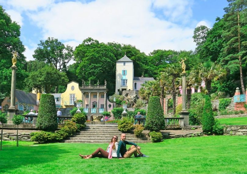 Portmeirion Village central piazza