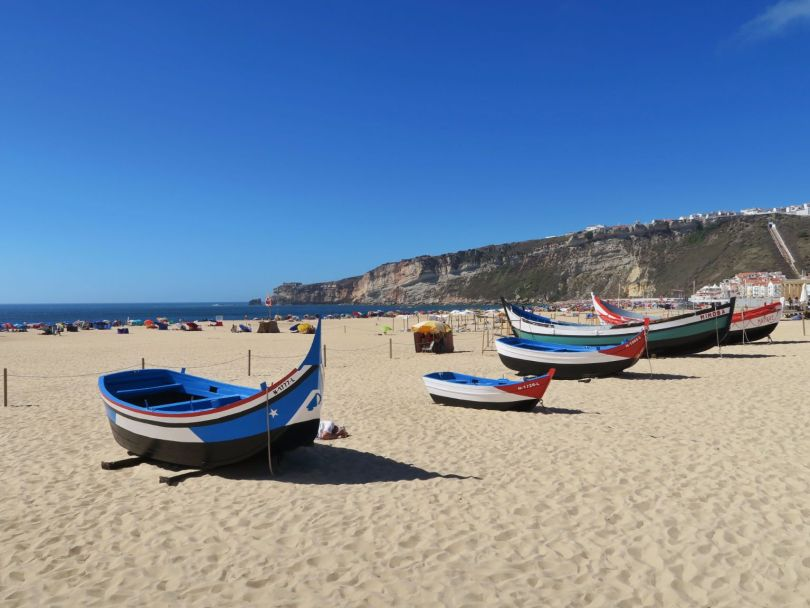Traditional boats, Nazare Beach