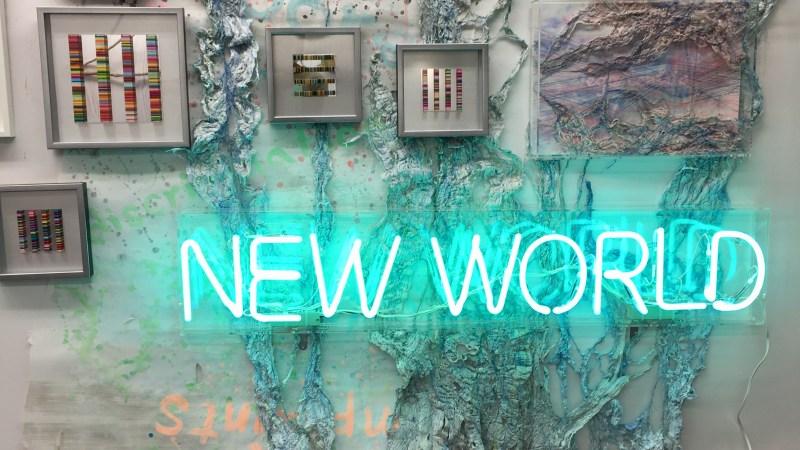 """我展出作品在""""EATS 日本桥艺术解放区 produced by gallery Tagboat"""" tagboat, hidemishimura, fiberart, contemporaryart Hidemi Shimura"""