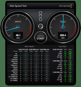 USBスピードテスト結果