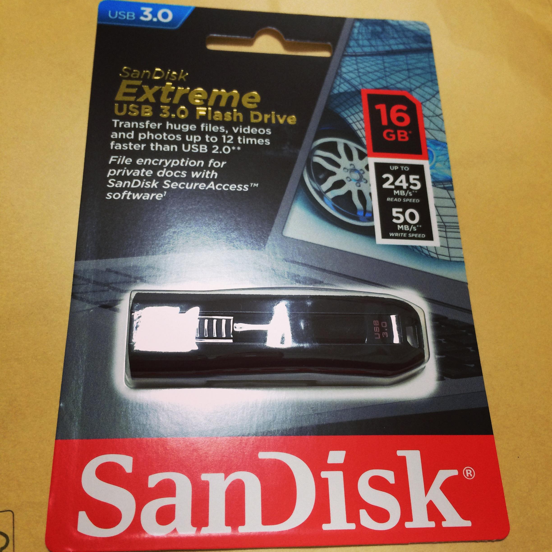 SanDiskのusbメモリー