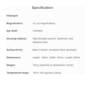 Hidesight specification